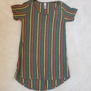 🌻 LulaRoe XS Striped Grey t-shirt short-sleeved